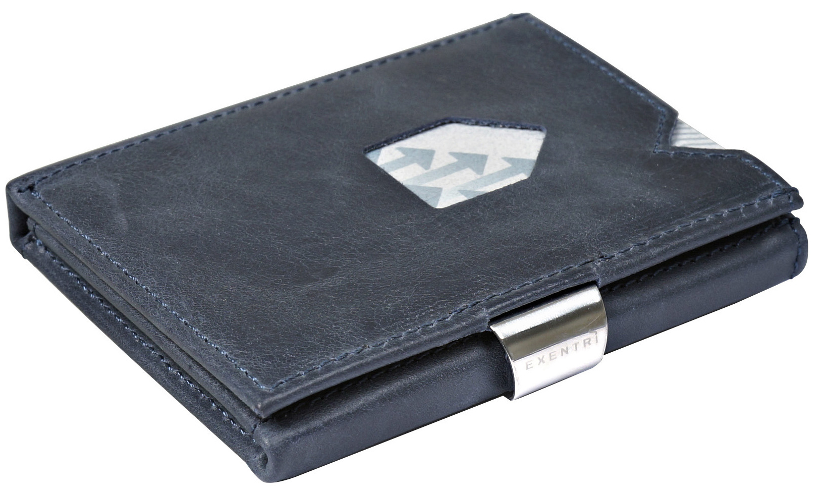 Exentri RFID Wallet Grey-Blue